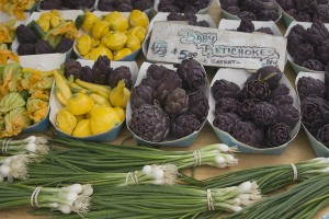 baby artichokes at a farmer's market